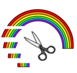rainbow snippits scissors